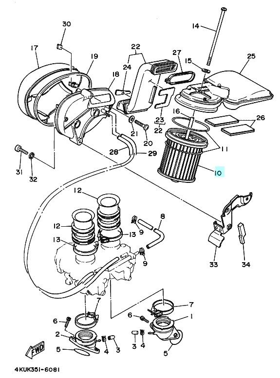 2004 Yamaha Virago 535 Wiring Diagram